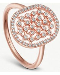 Astley Clarke - Icon Nova 14ct Rose-gold And Diamond Cocktail Ring - Lyst