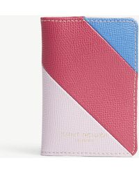 Kurt Geiger - Striped Leather Card Holder - Lyst