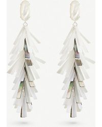 Kendra Scott - Justyne Silver-plated And Acrylic Tassel Earrings - Lyst