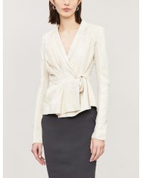 Rick Owens - Pleated Structured Leather Jacket - Lyst