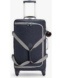 Kipling - True Navy Blue Mix Cyrah Four Wheel Suitcase - Lyst