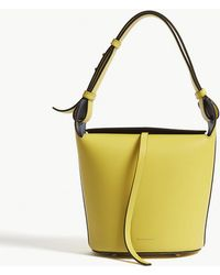 Burberry - Small Leather Bucket Bag - Lyst