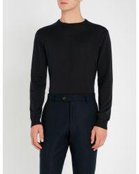 Corneliani - Cc Collection Crewneck Wool Jumper - Lyst