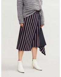 Sportmax - Pinne Striped Wool Wrap Skirt - Lyst