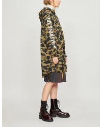 73e023ae657d A Bathing Ape - Logo And Camouflage-print Shell Jacket - Lyst