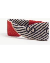 b9e4fdece5e Lyst - Gucci Ghost Headband in Blue