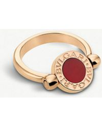 BVLGARI - 18ct Rose-gold And Carnelian Ring - Lyst