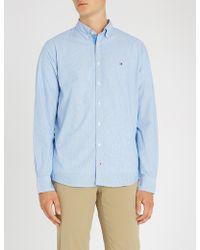 Tommy Hilfiger - Dobby Regular-fit Striped Cotton Shirt - Lyst