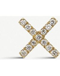 Loquet London - Diamond Kiss 18ct Yellow-gold And White Diamond Charm - Lyst