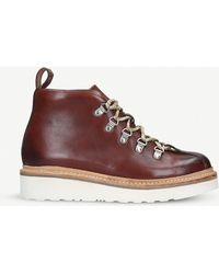 Grenson - Bridget Leather Hiking Boots - Lyst