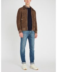 Eleventy - Shearling-lined Suede Jacket - Lyst