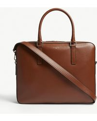 Sandro - Downtown Pebbled Leather Briefcase - Lyst