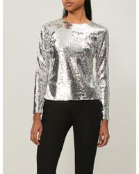 Racil - Judy Sequinned Top - Lyst