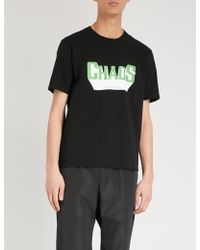 Undercover - Chaos Text-print Cotton-jersey T-shirt - Lyst