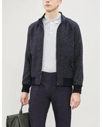 Slowear - Jaspe Textured-knit Bomber Jacket - Lyst