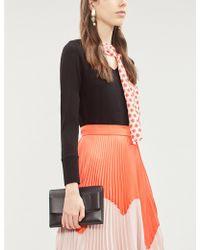 OSMAN Zahara Necktie Wool-knit And Silk Sweater