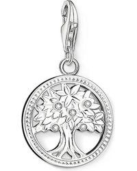 Thomas Sabo - Charm Club Silver And Zirconia Tree Of Life Charm Pendant - Lyst