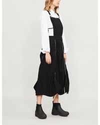 Renli Su - Piped Cotton-blend Dungaree Dress - Lyst
