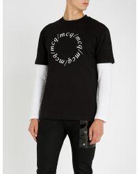McQ - Legionary-print Cotton-jersey T-shirt - Lyst