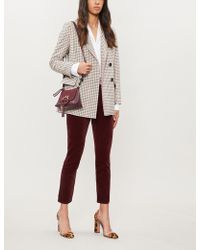 J Brand - Ruby High-rise Velvet Cigarette Trousers - Lyst