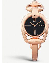 786a4eb3a90 Lyst - Gucci Ya109527 Gold Plated Watch in Metallic