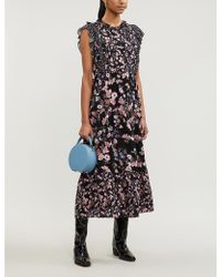 Sandro Bouna Floral-print Woven Maxi Dress