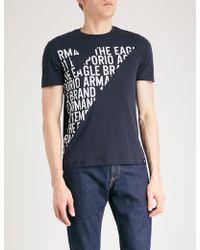 Emporio Armani | Logo-print Cotton-jersey T-shirt | Lyst