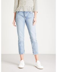 Ba&sh - Dino Straight Cropped High-rise Jeans - Lyst