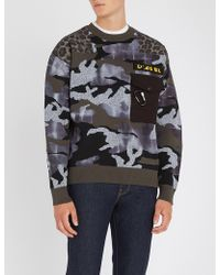 DIESEL - K-camou Knitted Jumper - Lyst