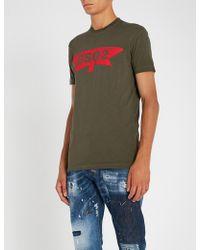 DSquared² - Logo-print Cotton T-shirt - Lyst