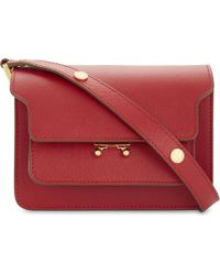 745e1c8b2f8 Marni - Hot Red Trunk Leather Shoulder Bag - Lyst