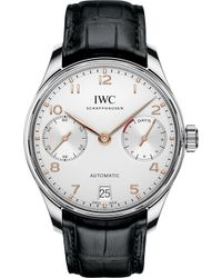 Iwc - Iw500704 Portugieser Alligator-leather Watch - Lyst