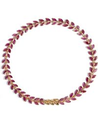 Annoushka | Ruby Vine 18ct Gold And Ruby Bracelet | Lyst