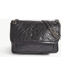 d2f2062a78e2 Saint Laurent Niki Medium Armature Bag In Leather And Studs in Black ...