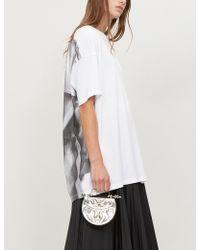 d0131d8d814 Maison Margiela - Trench Coat-print Cotton-jersey T-shirt - Lyst
