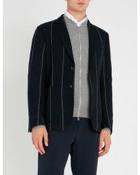 Corneliani - Striped Regular-fit Wool Jacket - Lyst