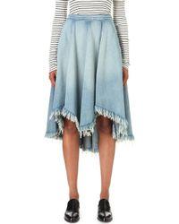 NSF - Millie Denim Skirt - Lyst