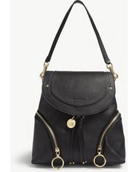 See By Chloé - Black Olga Leather Backpack - Lyst