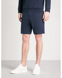 Ralph Lauren Purple Label - Lisle Cotton-jersey Shorts - Lyst