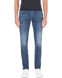 Sandro - Slim-fit Tapered Stretch-denim Jeans - Lyst
