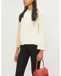 34ddeb0612f4 Co. - Crewneck Long-sleeve Patchwork Cable-knit Tunic Sweater - Lyst