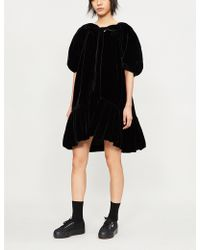 Cecile Bahnsen - Puff-sleeve Velvet Mini Dress - Lyst