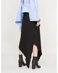 Awake - Assymetric Cotton Wrap Skirt - Lyst