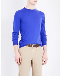 Ralph Lauren Purple Label - Crewneck Cashmere Jumper - Lyst
