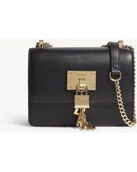 DKNY - Elissa Grained Leather Cross-body Bag - Lyst