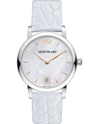 Montblanc | Star Classique Mother-of-pearl And Alligator Watch | Lyst