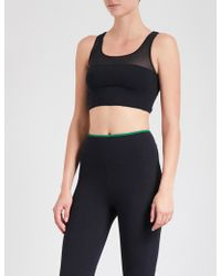 Sàpopa - Elif Mesh-panelled Stretch-jersey Sports Bra - Lyst