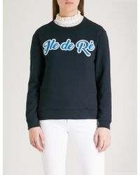 Claudie Pierlot - Ile De Ré Cotton-blend Sweatshirt - Lyst