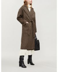 Nanushka - Alamo Wool-blend Wrap Coat - Lyst