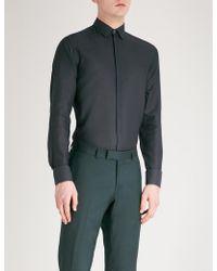 Lanvin - Slim-fit Metallic Cotton Shirt - Lyst